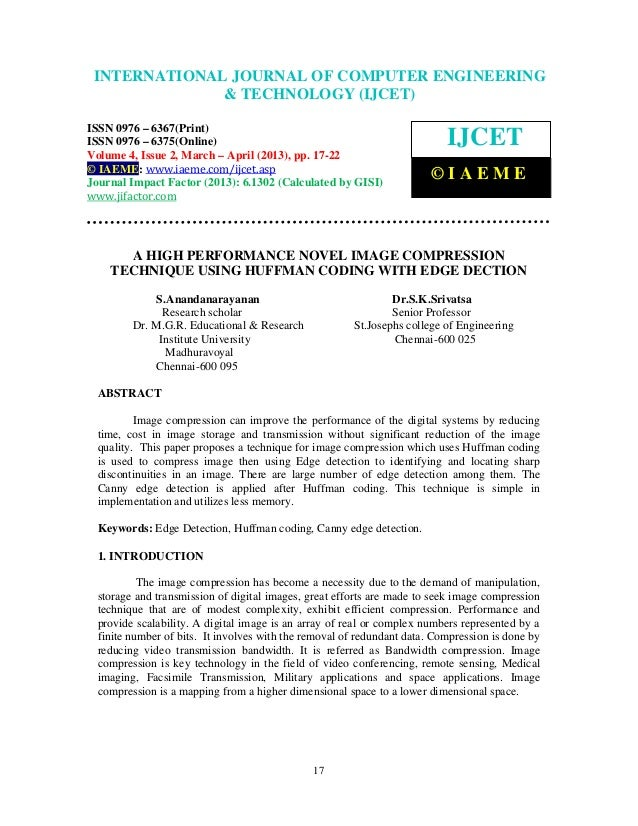 INTERNATIONALComputer Engineering and Technology ENGINEERING  International Journal of JOURNAL OF COMPUTER (IJCET), ISSN 0...