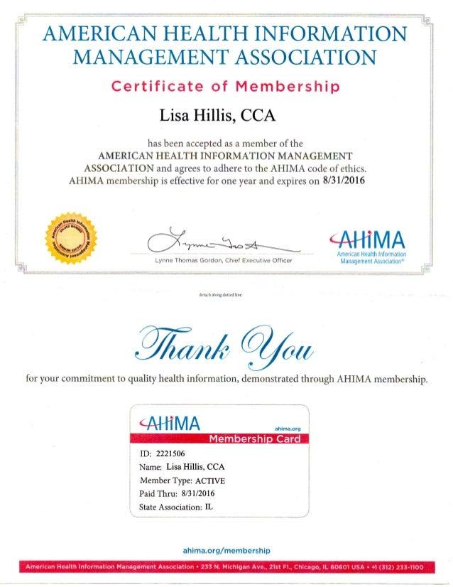 ahima membership 2015 2016