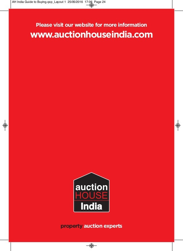 Auction House India guide to Buying and Selling