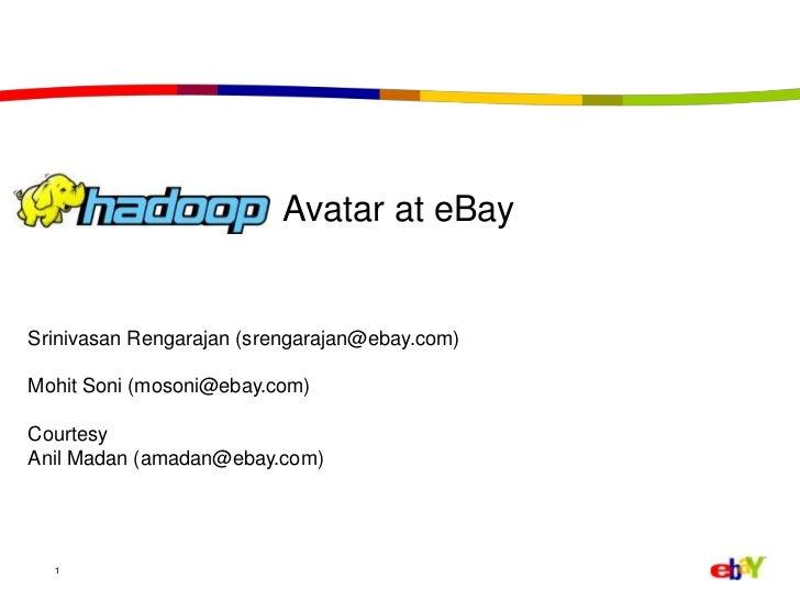 1<br />                          Avatar at eBay<br />Srinivasan Rengarajan (srengarajan@ebay.com)<br />Mohit Soni (mosoni@...