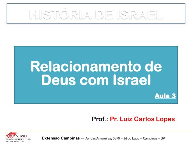 Prof.: Pr. Luiz Carlos Lopes Extensão Campinas – Av. das Amoreiras, 3370 – Jd do Lago – Campinas – SP. Relacionamento de D...