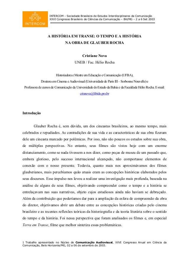 INTERCOM – Sociedade Brasileira de Estudos Interdisciplinares da Comunicação XXVI Congresso Brasileiro de Ciências da Comu...