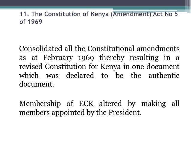 constitutional reforms in kenya The status of constitutional implementation to the kenya law reform commission  implementation of legal and institutional reforms and enforcementof.
