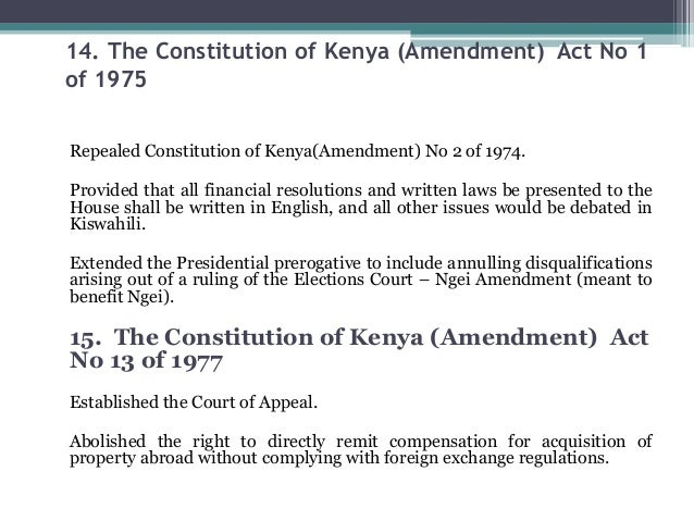 constitution law of kenya Following the clear endorsement by kenyans of a new constitution on august 4th 2010, there has been lots of talk in some homo quarters regarding certain clauses on the bill of rights that are believed to somehow decriminalise homosexuality in kenya.