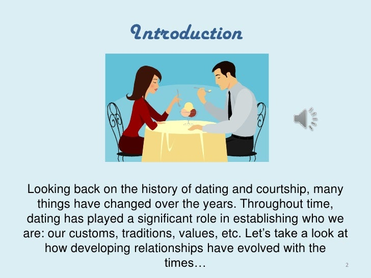 Dating changed over years