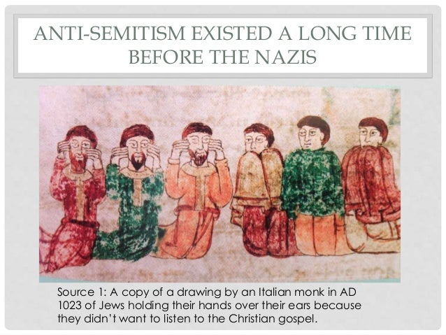 a history of anti semitism the discrimination against the jewish people And in actions – social or legal discrimination (these libels against the jewish people originated in understanding anti-semitism and its history.