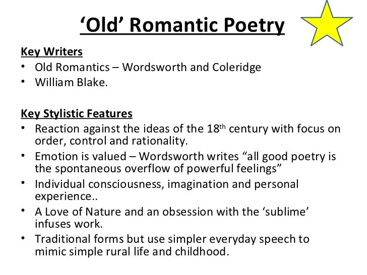 An analysis of romanticism in the literary works of alexander pope and william wordsworth