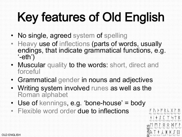 how to write in old english language