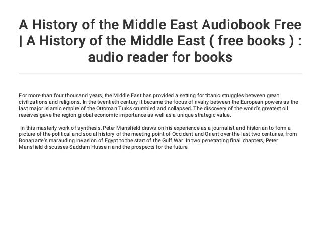 44dd0bedb A History of the Middle East Audiobook Free | A History of the Middle…