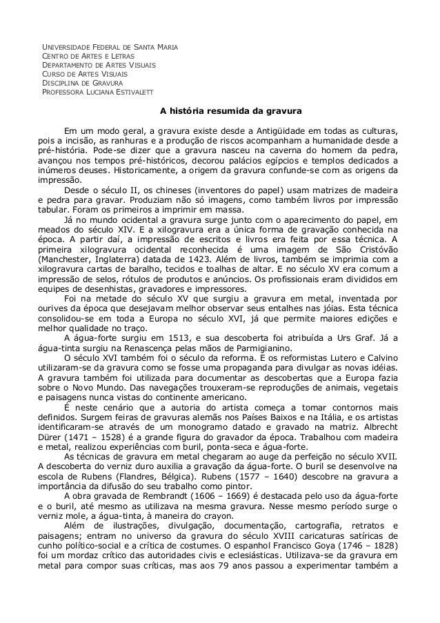 UNIVERSIDADE FEDERAL DE SANTA MARIA CENTRO DE ARTES E LETRAS DEPARTAMENTO DE ARTES VISUAIS CURSO DE ARTES VISUAIS DISCIPLI...