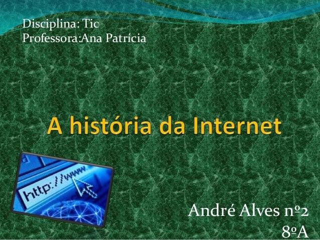 Disciplina: Tic Professora:Ana Patrícia  André Alves nº2 8ºA