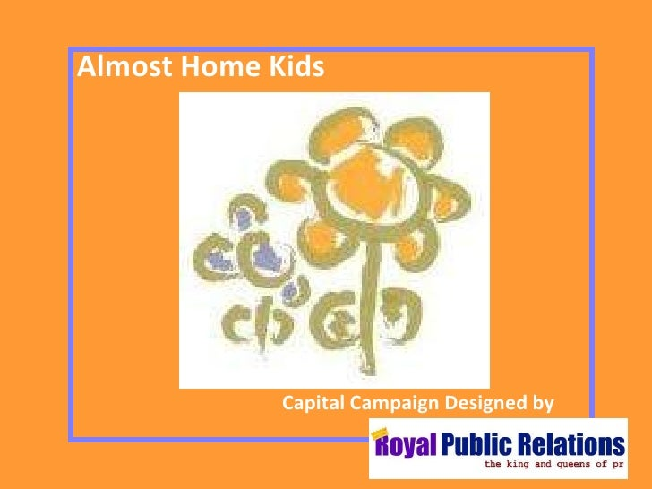 Capital Campaign Designed by Almost Home Kids