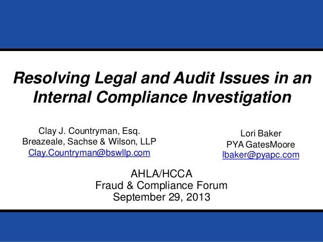 Page 0September 29, 2013 Prepared for AHLA /HCCA Fraud & Compliance Forum 2013 AHLA/HCCA Fraud & Compliance Forum Septembe...