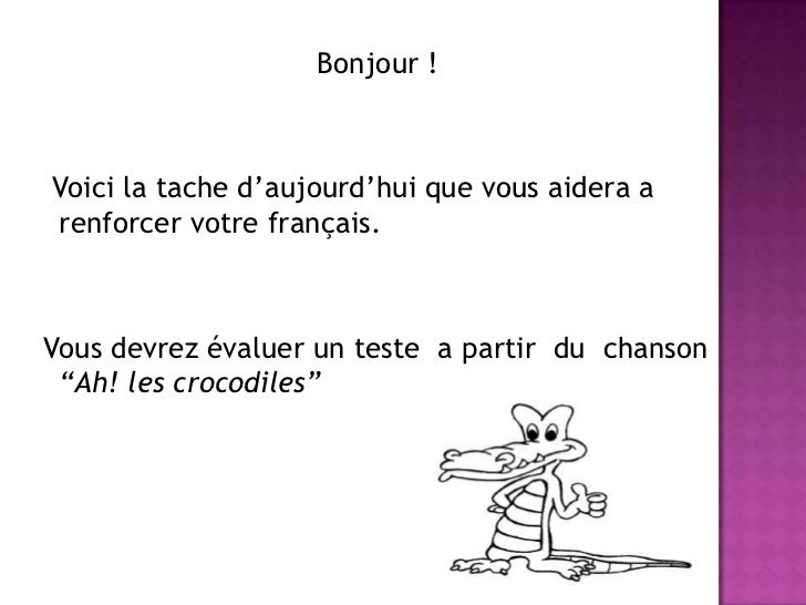 Ah Le Crocodile
