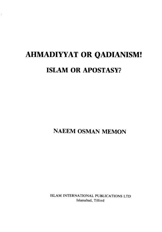 Ahmadiyyat or-qadianism.............
