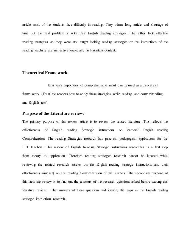 English reading strategic instructions effectiveness on