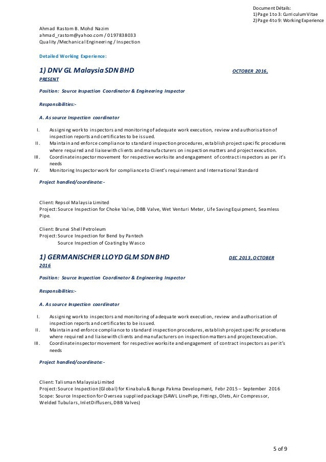 Curriculumvitae Malaysia on