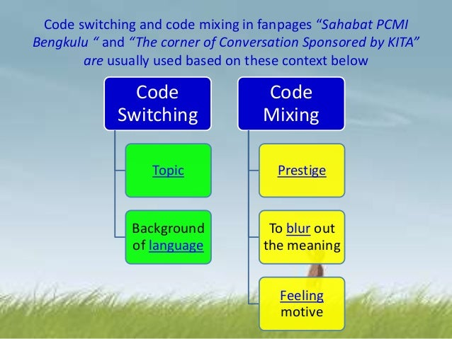 code mixing and code switching on english and yoruba British journal of english linguistics code switching, code mixing yoruba, igbo, hausa, nigeria pidgin english and even indigenous languages of neighbouring.