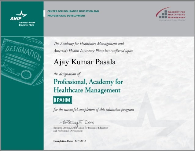 Professional Academy For Healthcare Management