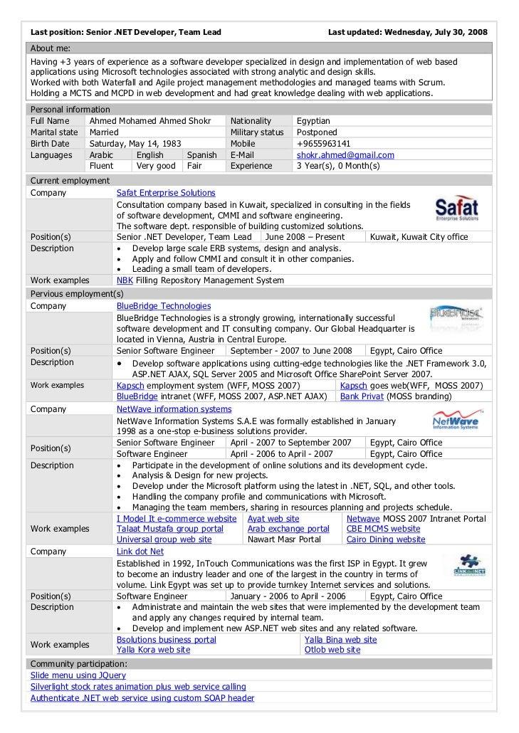 Developer Objective Resume VisualCV Engineer Resume CV Template Pinterest  Net Resume