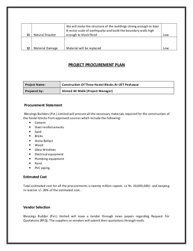 Project On Construction Of  Block House Report