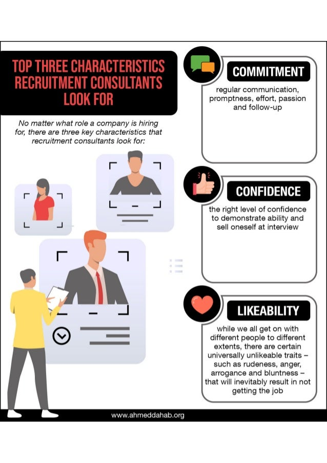 Top Three Characteristics Recruitment Consultants Look For