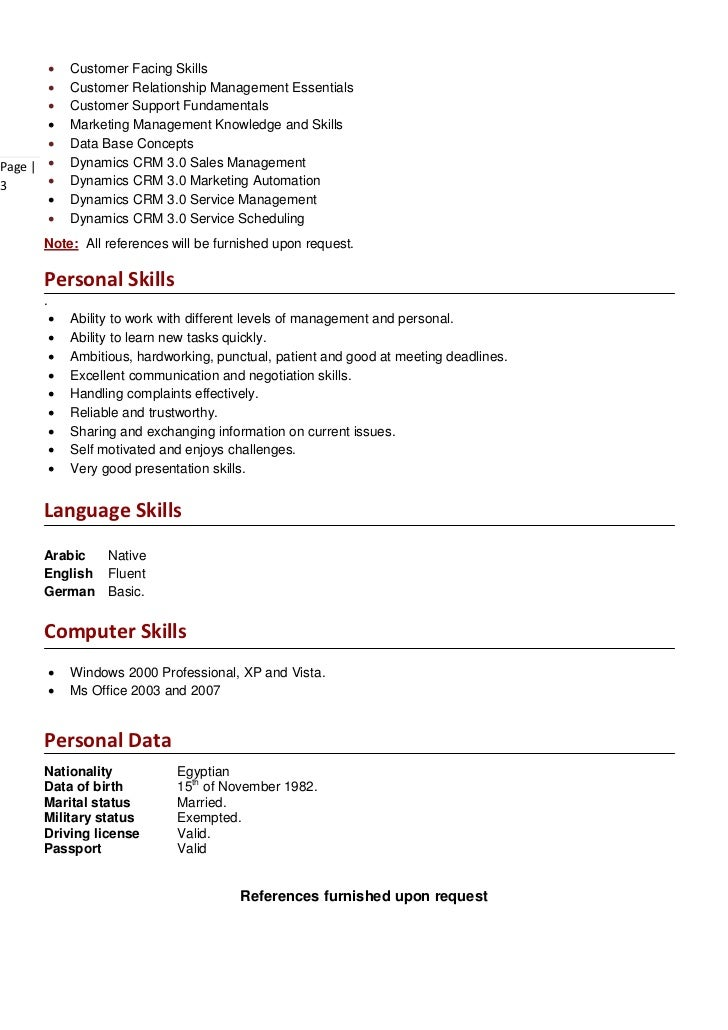 languages on resumes
