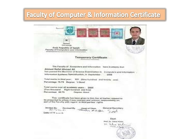 Faculty of Computer & Information Certificate<br />
