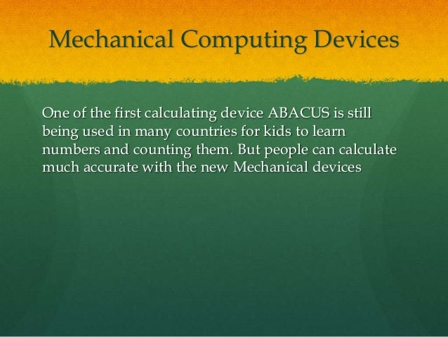 manual computing devices