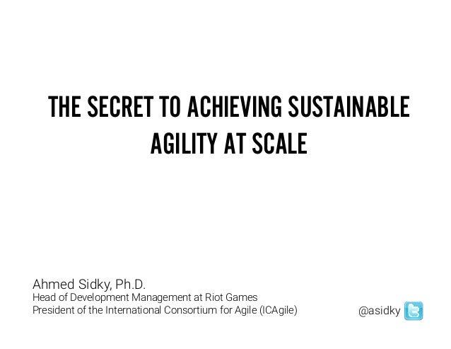 Ahmed Sidky (Keynote) Slide 3