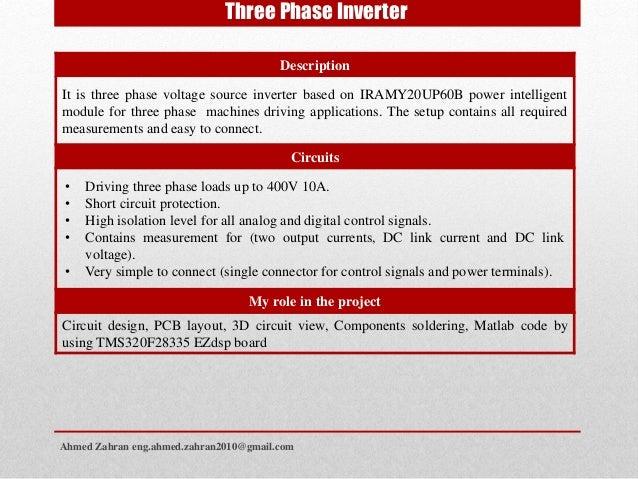 Ahmed zahran power electronics projects portfolio