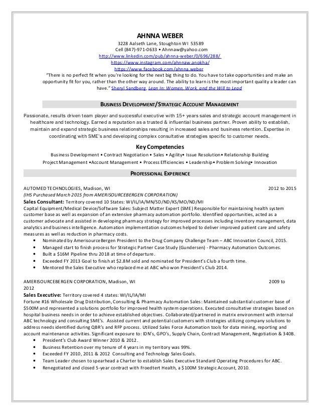 resume with accomplishments