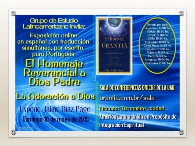 A HOMENAGEM REVERENCIAL A DEUS PAI - A ADORAÇÃO A DEUS - Amados irmãos e irmãs, estudantes do Livro de Urântia, recebam um...