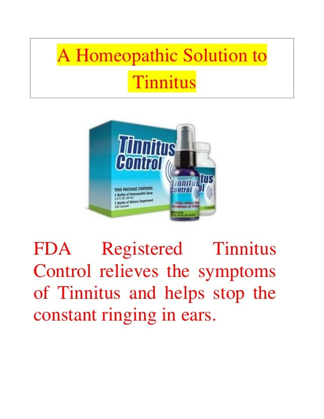 A Homeopathic Solution To Tinnitus