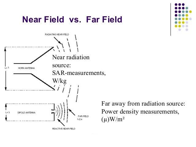 Near Field vs. Far Field Near radiation source: SAR-measurements, W/kg Far away from radiation source: Power density measu...