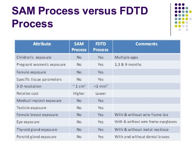 SAM Process versus FDTD Process