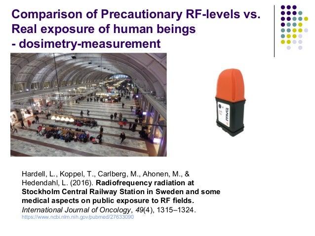 Comparison of Precautionary RF-levels vs. Real exposure of human beings - dosimetry-measurement Hardell, L., Koppel, T., C...