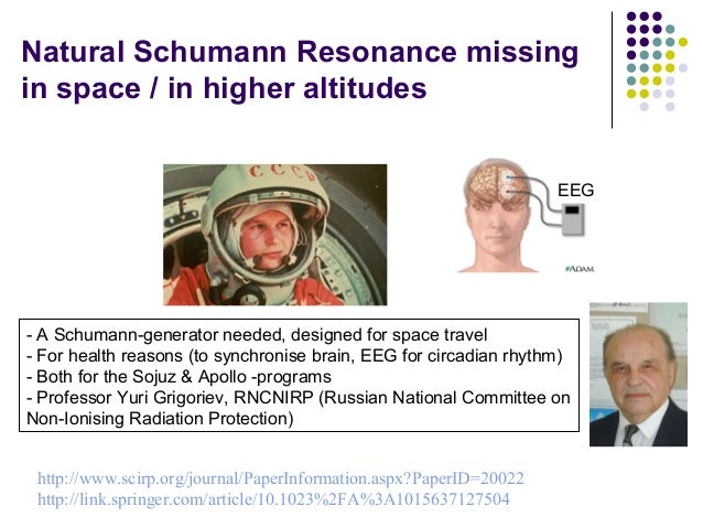 Natural Schumann Resonance missing in space / in higher altitudes - A Schumann-generator needed, designed for space travel...
