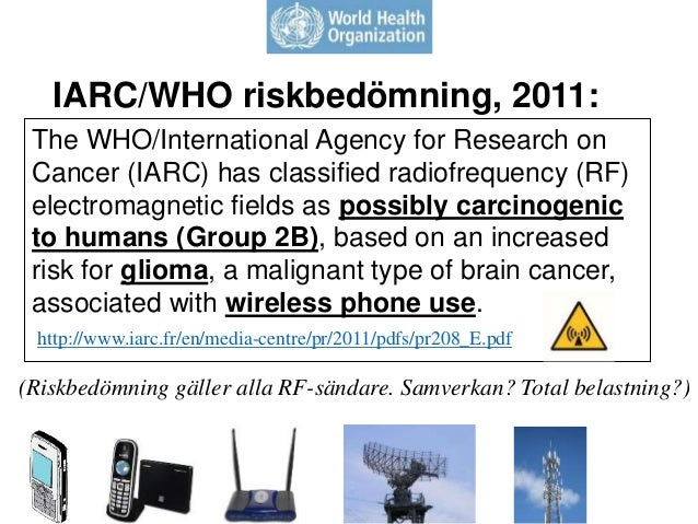 The WHO/International Agency for Research on Cancer (IARC) has classified radiofrequency (RF) electromagnetic fields as po...