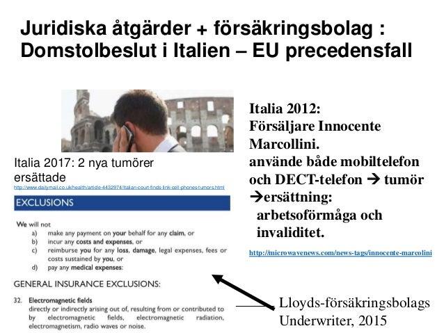 Mittuniversitetet Juridiska åtgärder + försäkringsbolag : Domstolbeslut i Italien – EU precedensfall Italia 2012: Försälja...