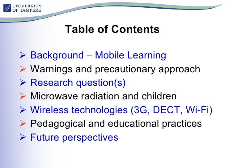 Mobile Learning and Health Risks - Implications for Pedagogical and Educational Practices Slide 2