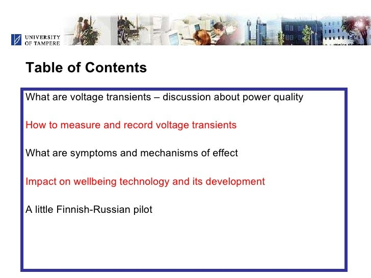 Voltage Transients and Health - Is There a Connection? Slide 2