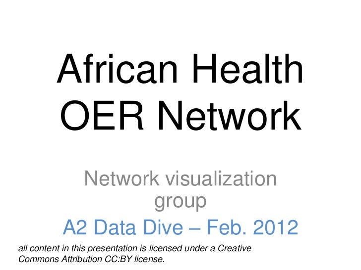 African Health          OER Network             Network visualization                    group           A2 Data Dive – Fe...