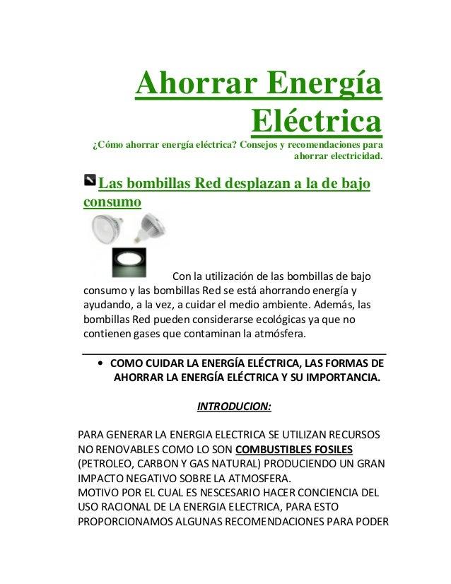 Ahorrar energ a el ctrica for Ahorrar calefaccion electrica