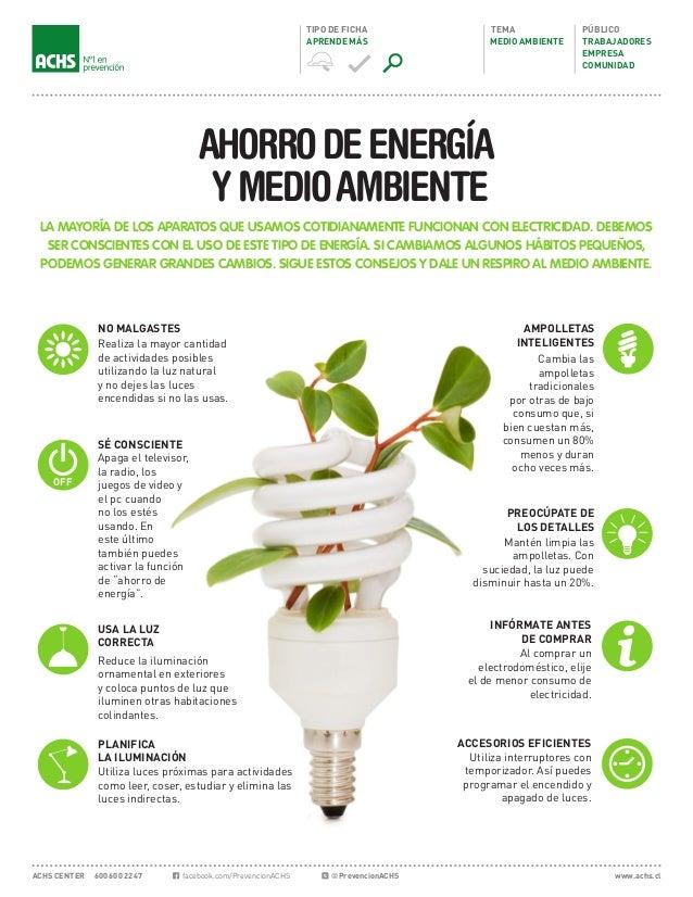 Ahorro de energia y medio ambiente - Luz y ambiente ...