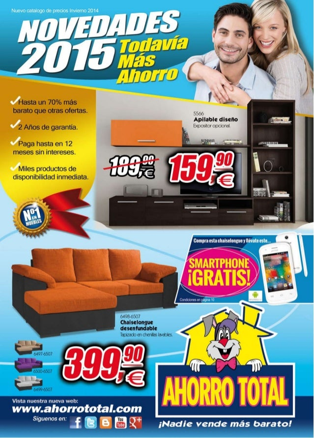 Ahorro total muebles invierno 2015 for Muebles ahorro total catalogo