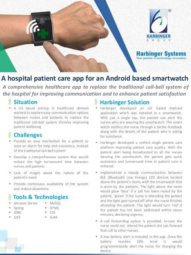  A US based startup in healthcare domain wanted to explore easy communication options between nurses and patients to repl...