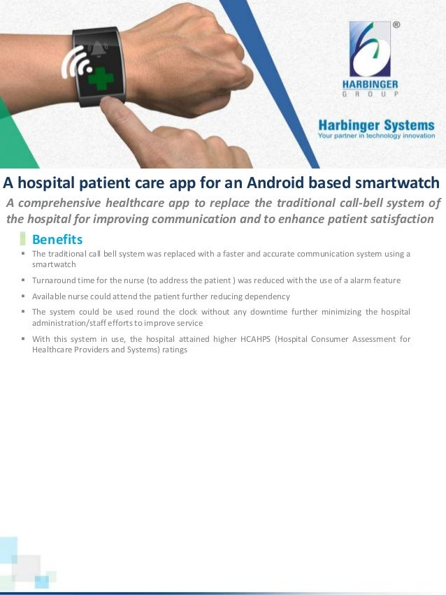 A hospital patient care app for an android based smartwatch Slide 2