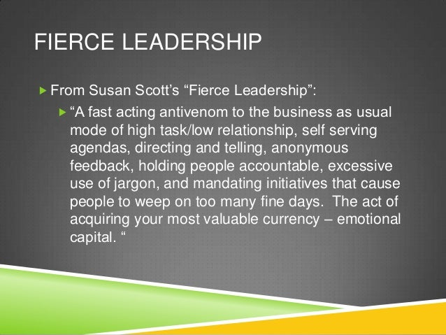 Fierce leadership susan scott