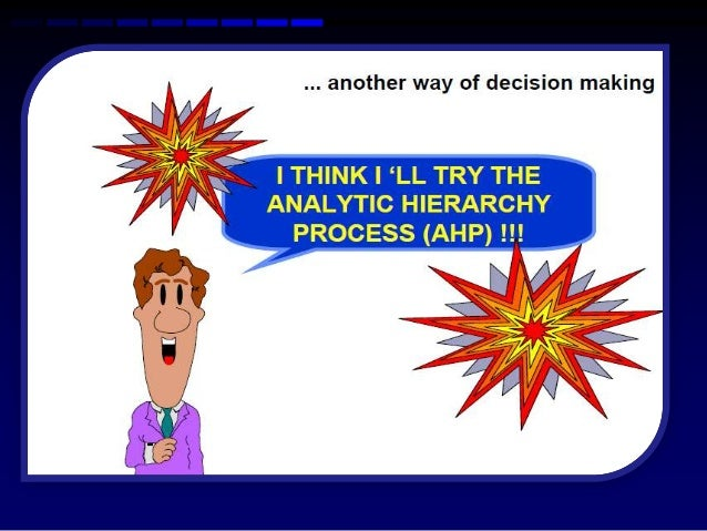 analytic hierarchy process ahp pdf